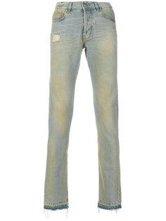 джинсы кроя слим с потертой отделкой Misbhv