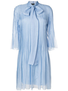 плиссированное платье с бантом Rochas
