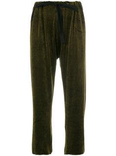 укороченные брюки на шнурке  Hache