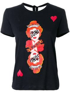 футболка с карточными символами Sonia By Sonia Rykiel