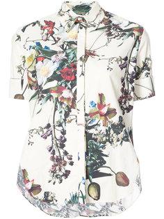 расклешенная рубашка с цветочным принтом Adam Lippes
