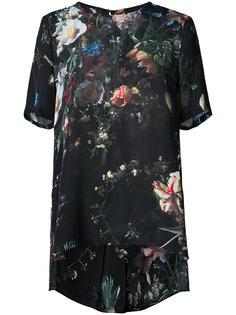 платье с цветочным принтом  Adam Lippes