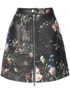 юбка с цветочным принтом  Adam Lippes