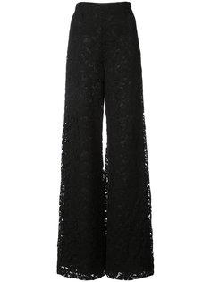 кружевные широкие брюки   Adam Lippes