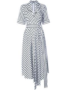 асимметричное полосатое платье  Adam Lippes