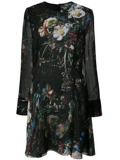 прозрачное платье с цветочным принтом Adam Lippes