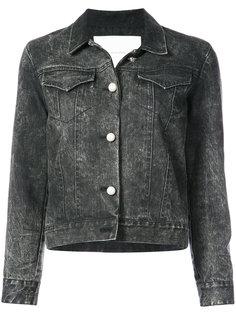 джинсовая куртка с потертой отделкой  Adam Lippes