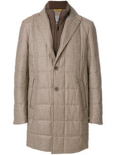 стеганое пальто в клетку Canali