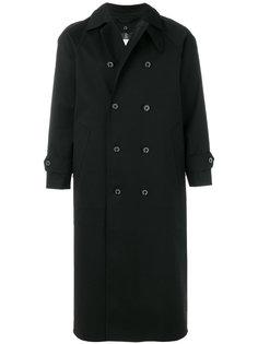 удлиненное двубортное пальто  Mackintosh