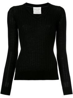 свитер в рубчик с V-образным вырезом Forte Forte