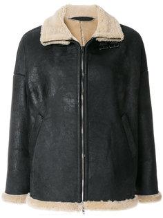 короткая куртка с овечьей шерстью  Salvatore Santoro