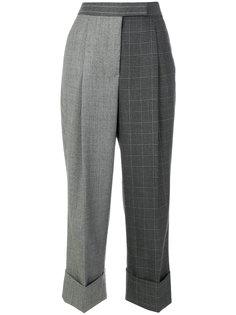 брюки в стиле пэчворк  Thom Browne