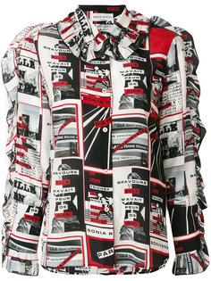блузка с принтом Sonia Rykiel