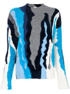 """вязаный свитер дизайна """"колор-блок"""" Kenzo"""