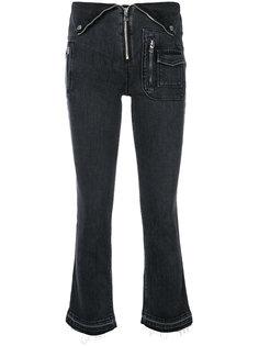 укороченные брюки с деталью в виде воротника на талии  Rta