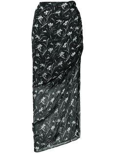 Mae Drawstring Floral print skirt Veronica Beard