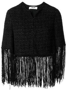 твидовый пиджак с бахромой  MSGM