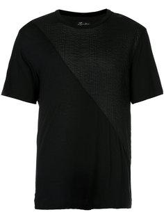 фактурная футболка с диагональными панелями Zambesi
