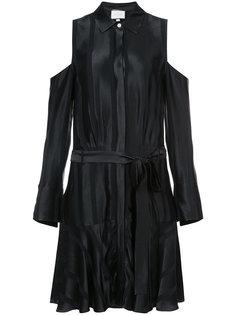 атласное платье с поясом Alexis