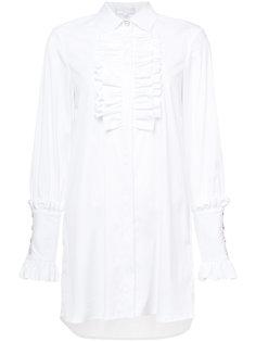 рубашка с ребристым нагрудником Caroline Constas