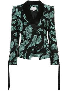 пиджак с растительным принтом  Cinq A Sept