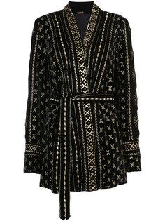 пиджак с вышивкой и поясом Dodo Bar Or