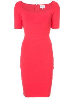 приталенное платье с квадратным вырезом Milly