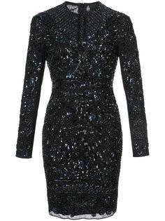 декорированное приталенное платье  Needle & Thread
