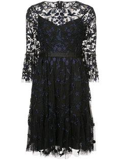 прозрачное расклешенное платье с цветочным узором Needle & Thread