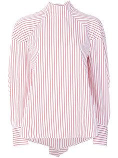 полосатая рубашка с высоким воротником  MSGM