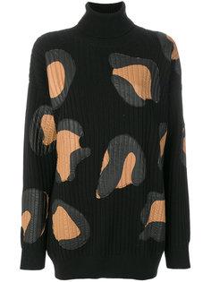 трикотажное платье с отворотной горловиной  Marco De Vincenzo