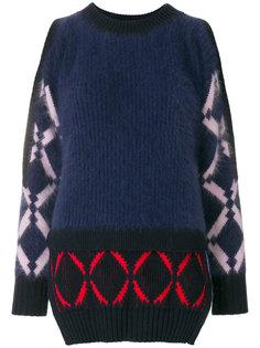свитер с вырезами на плечах Versace