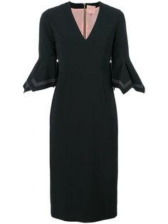 платье  с V-образным вырезом  Roksanda
