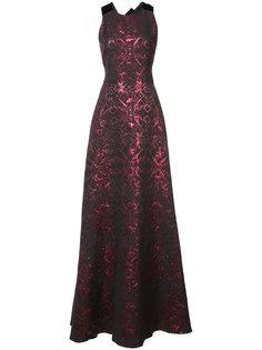 длинное платье с вышивкой Badgley Mischka