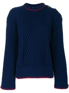 свитер с контрастной подкладкой  Sonia Rykiel