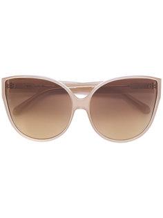 """массивные солнцезащитные очки в оправе """"кошачий глаз"""" Linda Farrow"""