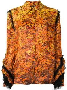 рубашка с цветочным принтом  Roberto Cavalli
