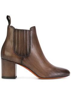 ботинки Челси на каблуках-столбиках Santoni