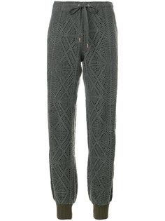 спортивные брюки с перфорацией и ромбами  See By Chloé