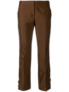 укороченные брюки с отделкой  Nº21