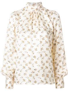 блузка с высоким воротом и цветочным принтом  Marc Jacobs