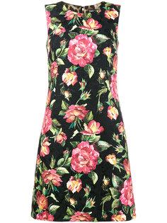 платье с цветочной отделкой  Dolce & Gabbana