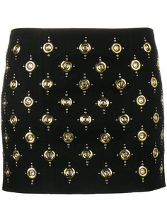 юбка мини с люверсами  Balmain