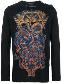 свитер с принтом змей Balmain