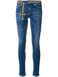 джинсы скинни с вышивкой  Dondup