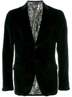 бархатный пиджак Etro
