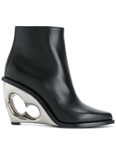 sculpted wedge boots Alexander McQueen