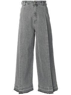 широкие джинсы с разрезами  Diesel