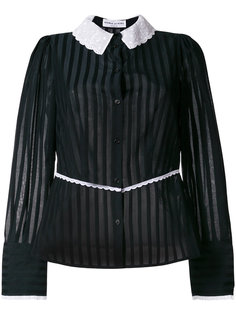 contrast collar striped blouse Sonia Rykiel