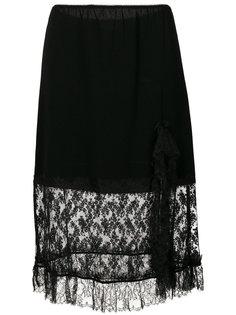 юбка с кружевной вставкой  Sonia Rykiel